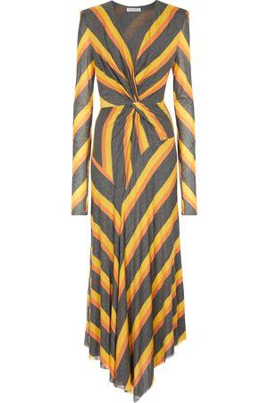 Philosophy di Lorenzo Serafini Striped jersey midi dress