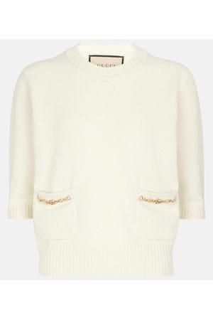 Gucci Chain-trimmed cashmere sweater