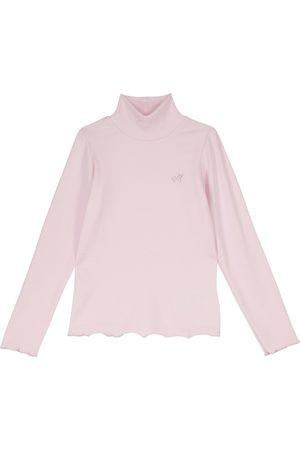 Monnalisa Ribbed-knit turtleneck sweater