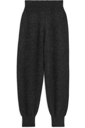 ARKET Alpaca Wool Trousers - Grey