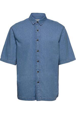 MANGO Sakura Kortermet Skjorte Blå