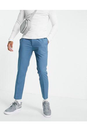 Topman Smart skinny jogger trousers in blue