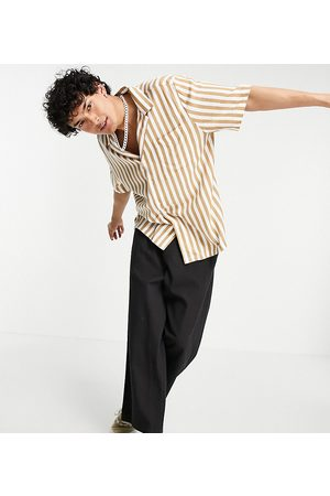 COLLUSION Herre Kortermede - Boxy short sleeve shirt in stripe-Multi