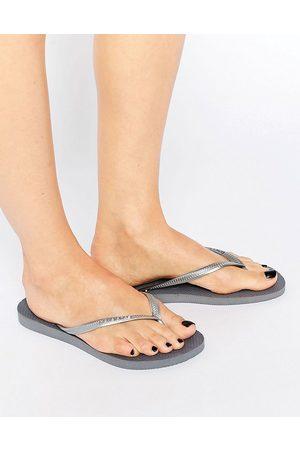 Havaianas Slim flip flops in silver