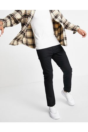 Topman Straight jeans in black