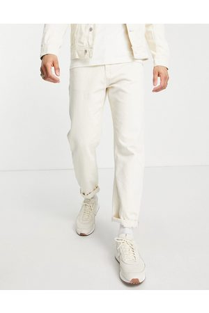 Tom Tailor Herre Straight - Loose fit jeans in ecru-Neutral