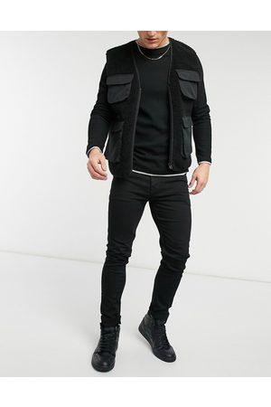 ASOS No fade black skinny jeans