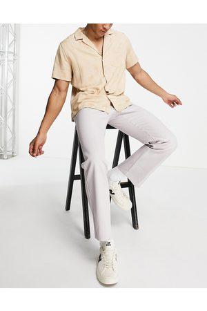 Mennace Straight leg trousers in light grey