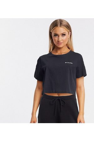 Columbia North Cascades back print cropped t-shirt in black Exclusive at ASOS