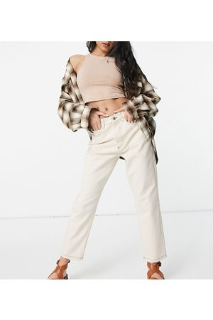 Reclaimed The '91 mom jean in ecru wash-White