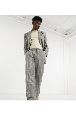 Reclaimed Herre Chinos - Inspired trouser in check-Grey