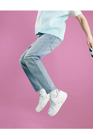 ASOS Tapered jeans in light wash blue