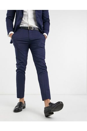 Burton Skinny suit trousers in navy check