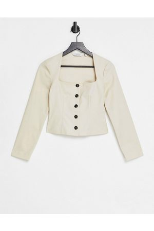 & OTHER STORIES Square neck top in light -Neutral