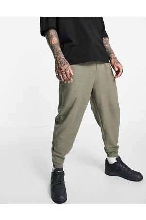 ASOS Oversized joggers in waffle-Green