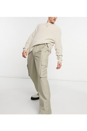 COLLUSION Herre Chinos - 90's fit baggy trousers in stone twill-Neutral