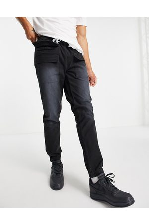ASOS ASOS Dark Future slim utility trousers-Black