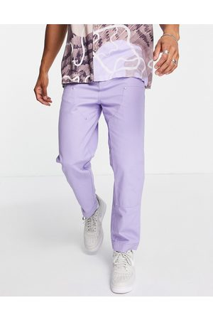 ASOS Herre Chinos - Skater trousers with laid on panels in purple