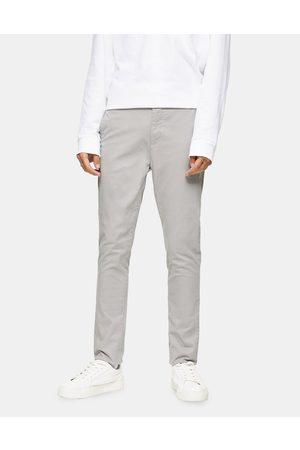 Topman Stretch skinny chinos in light grey