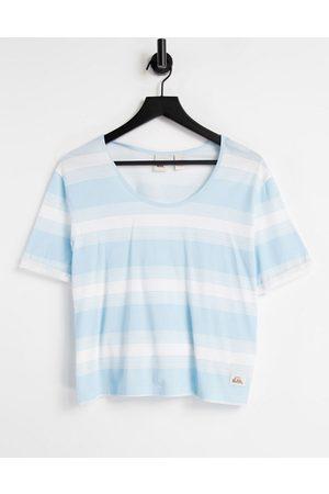 Quiksilver Dame Kortermede - Rider Heritage t-shirt in blue