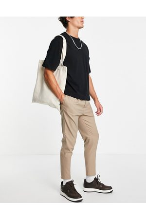 ASOS Tapered smart jogger in stone-Neutral