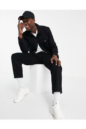 ASOS Regular western denim jacket in black