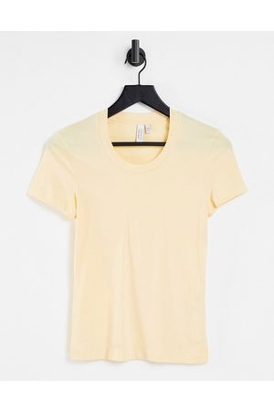 & OTHER STORIES T-shirt in yellow