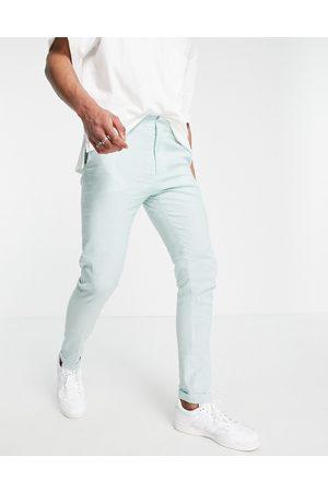 ASOS Skinny smart trouser in mint and blue stripe