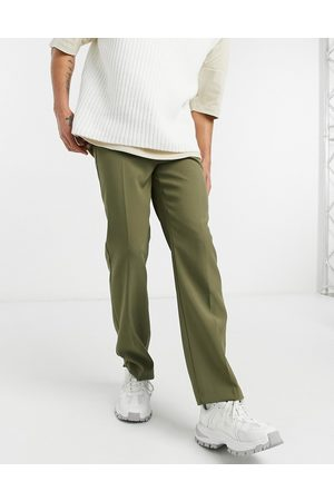 Mennace Aftermath straight suit trouser in green