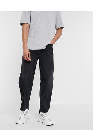 ASOS Barrel jeans in washed black
