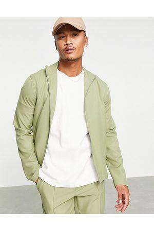 ASOS Co-ord smart track jacket in sage green