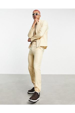 ASOS Co-ord smart track jacket in stone-Neutral