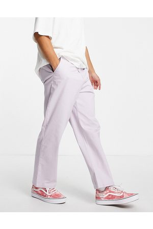 ASOS Wide fit chinos in lilac-Purple