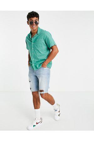 Polo Ralph Lauren Player logo short sleeve resort shirt in green