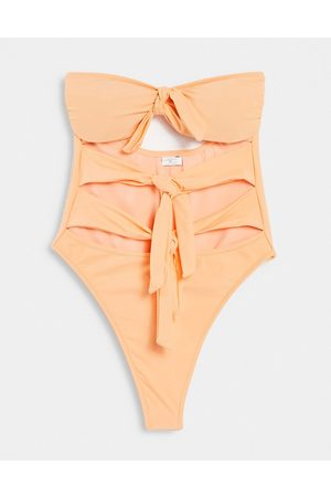 Candypants Knot Swimsuit in Orange