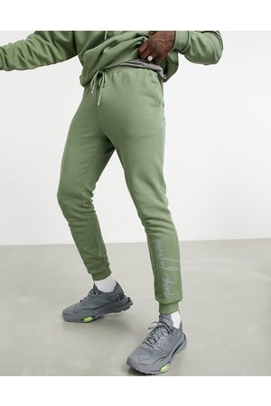 ASOS Co-ord oversized jogger with logo print in olivine-Green