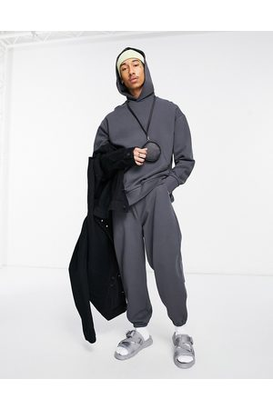 ASOS Co-ord heavyweight oversized hoodie in washed black