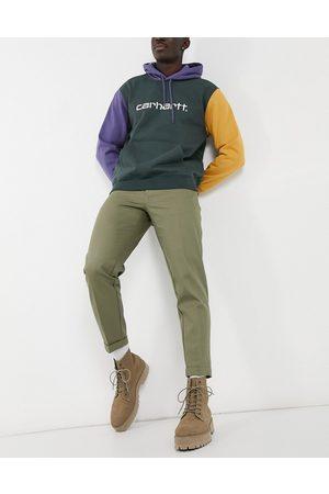 Burton Tapered crop trousers in khaki-Green