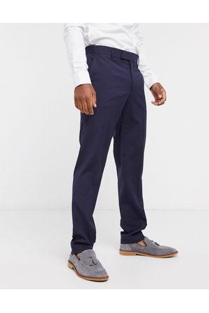 ASOS Slim smart trousers in navy