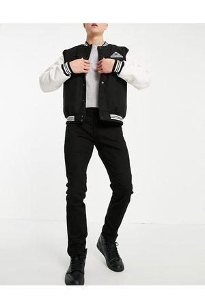 Topman Organic cotton blend stretch slim jeans in stay black