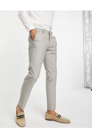 SELECTED Herre Smale bukser - Slim suit trouser in sand-Brown