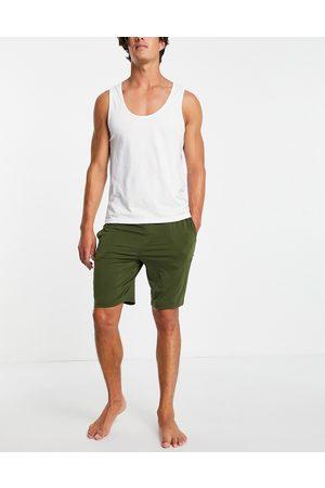Calvin Klein CK One sleep shorts in green