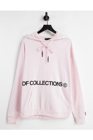 ASOS Co-ord oversized hoodie in pink with logo prints