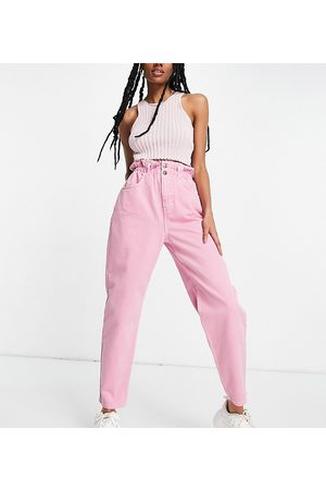 Reclaimed Dame High waist - Inspired the '96 mom jeans with gathered high waist in washed pink