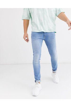 JACK & JONES Herre Skinny - Intelligence Liam skinny fit stretch jeans in light blue