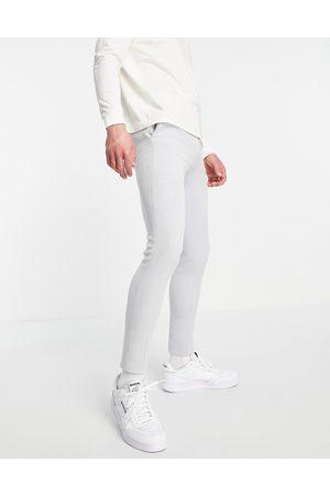 ASOS Super skinny oxford smart trouser in grey