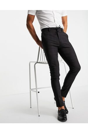 ASOS Smart trousers co-ord with windowpane check in navy