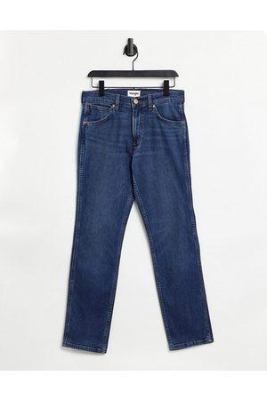 Wrangler Larston slim jeans in blue-Black