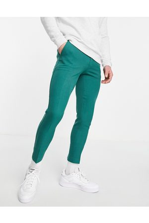 ASOS Extreme super skinny smart trouser in navy tonic-Green