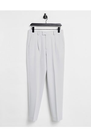 ASOS Oversized tapered smart trousers in grey